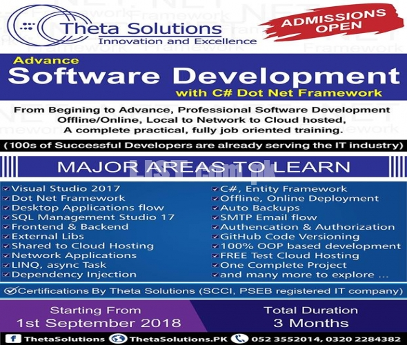 ADVANCE SOFTWARE DEVELOPMENT WITH C# DOT NET FRAMEWORK