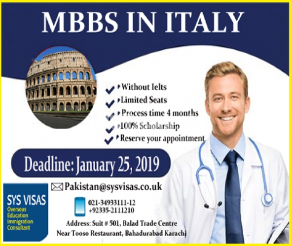 MBBS In Italy scolarship