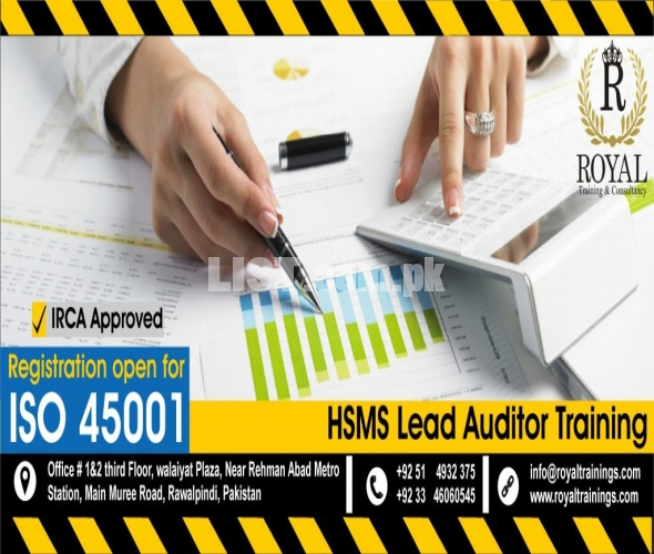 ISO 45001, IRCA certified Lead auditor Course in Rawalpindi.