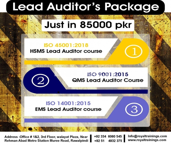 all IRCA approved certifications of QMS Lead auditor Course in RWP.