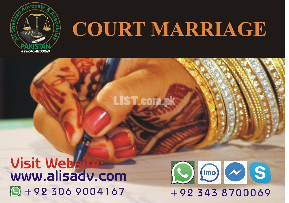 Court Marriage, Online Marriage with All Legal Protection