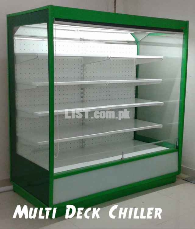 Upright Multi Deck Chiller, Commercial Upright Chiller, Open Display