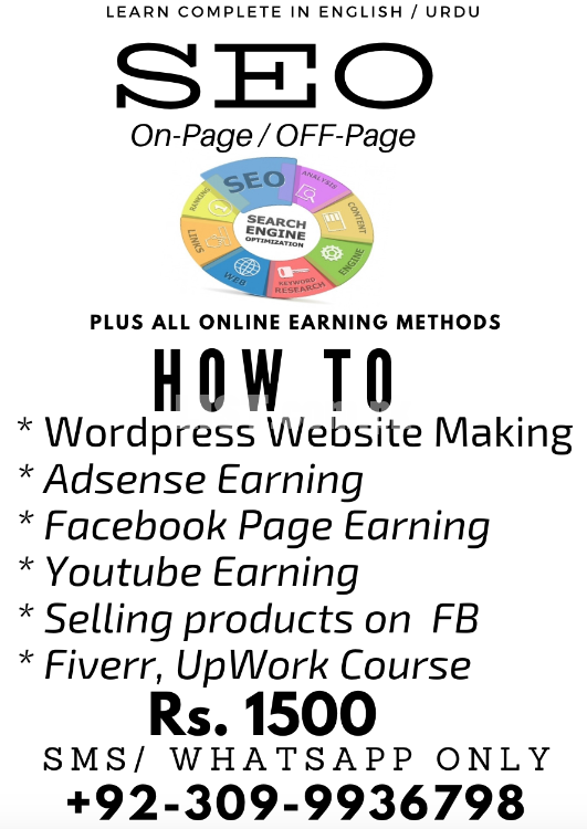 Online Earning Course - Complete SEO