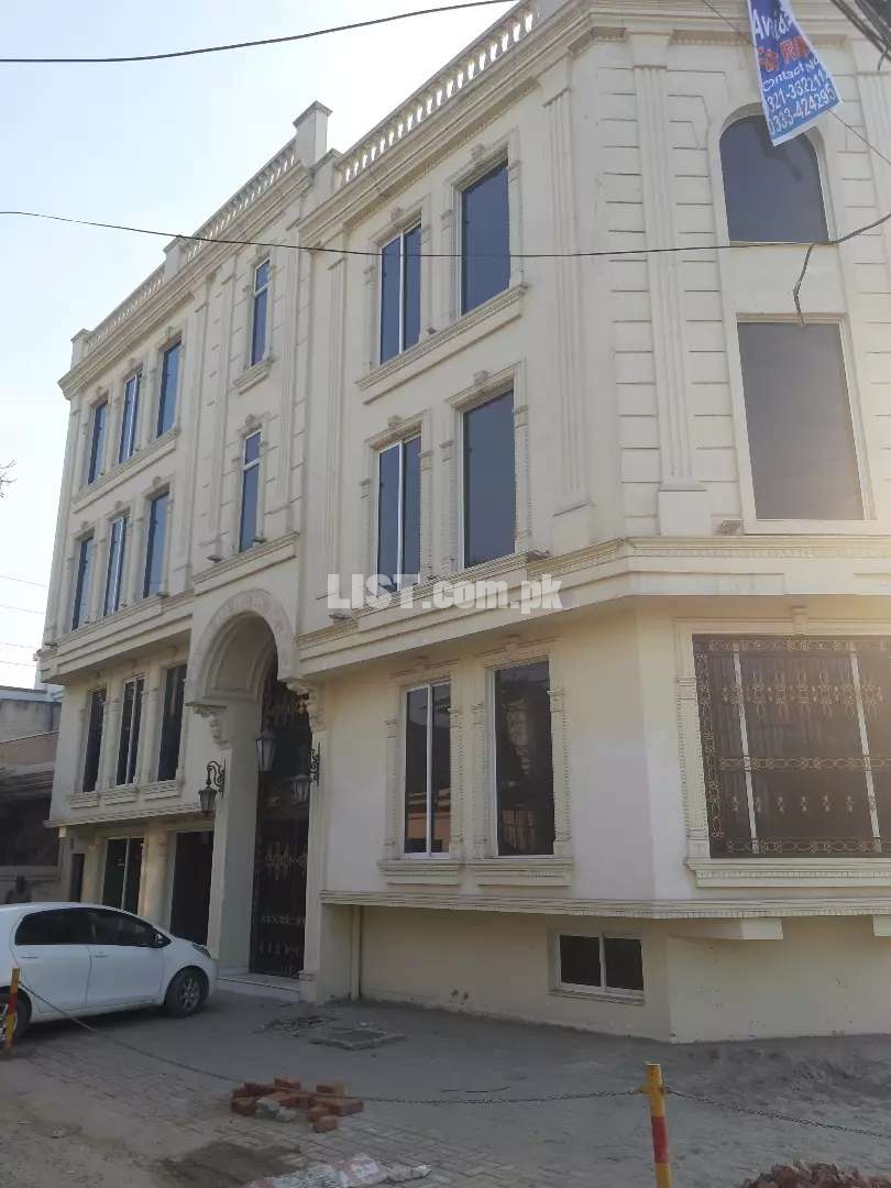 10 Marla palza corner 4 story available for Rent Fasial Town main Road