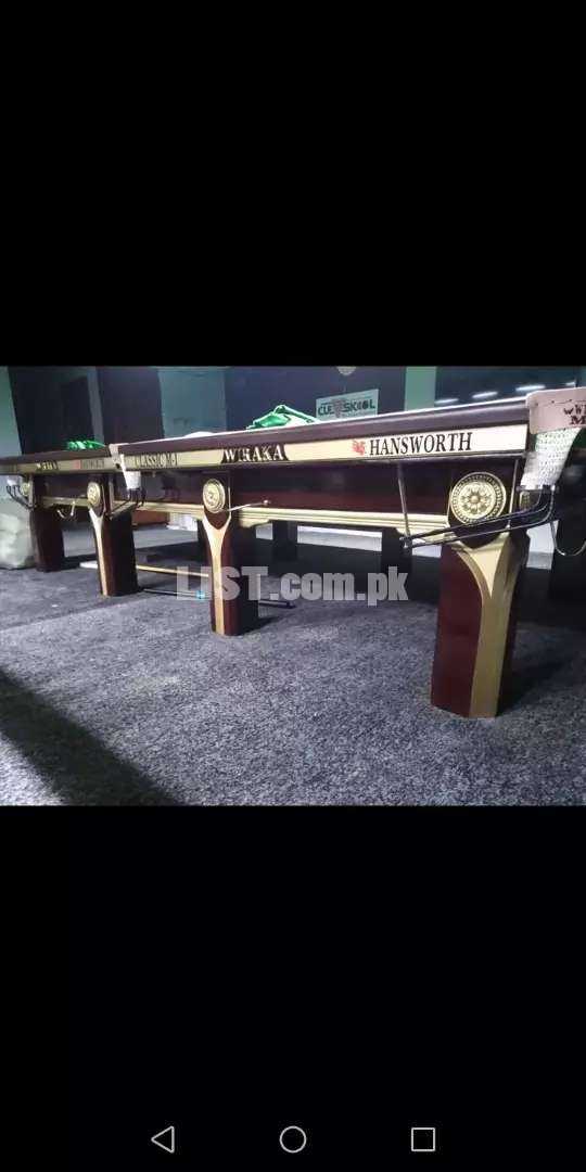 Snooker table work shop