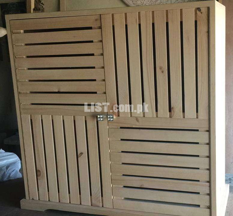 Shoes Rack Pure Wood Large Size