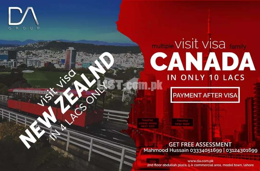 Canada multiple visit visa (families) and single person