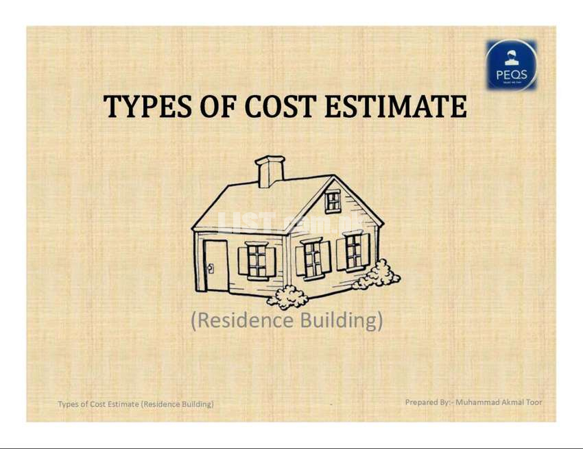 Types of Cost Estimate in practice