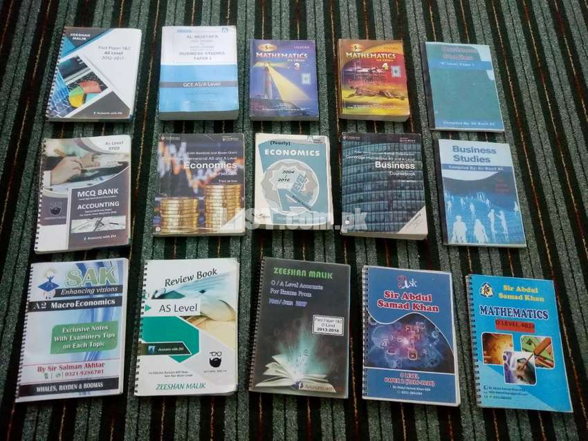 O level and A level books of professional Teachers and Past Papers