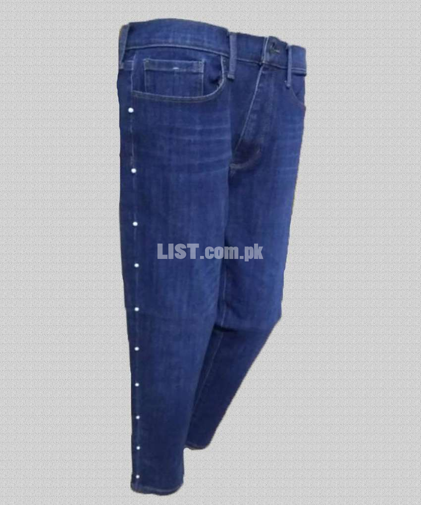 Denim Pearl Fashion High Quality Jeans for Women