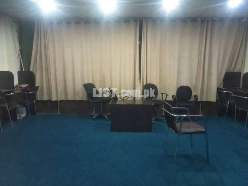 Call Centre : 30 Seaters+30 laptops+30 cabins full furnished office.