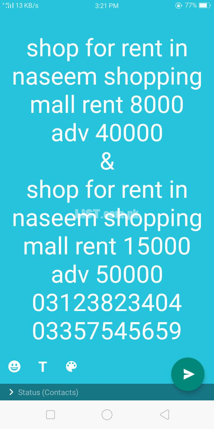 Flat For Rent Ever Green near Ali Palace