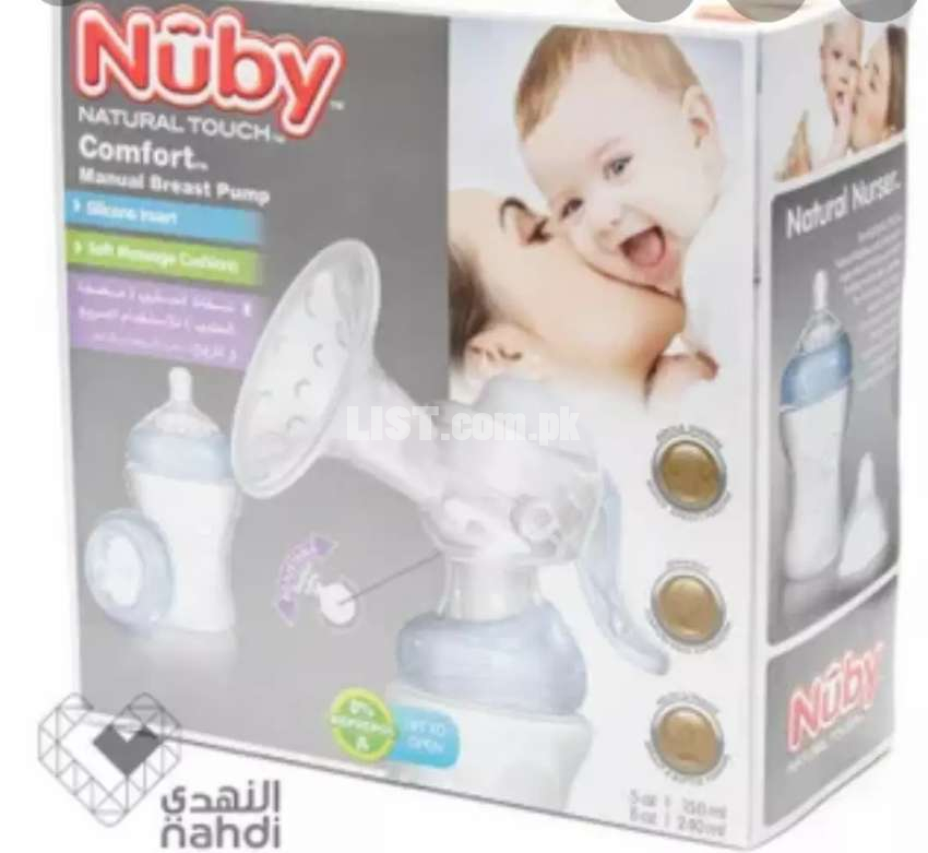 Nuby Natural Touch Comfort Manual Breast Pump