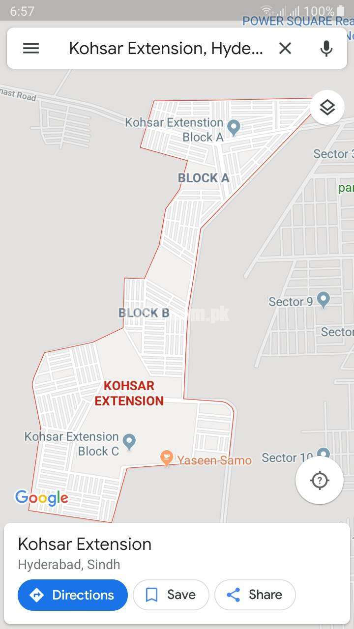 Plot for sale in Kohsar Extension