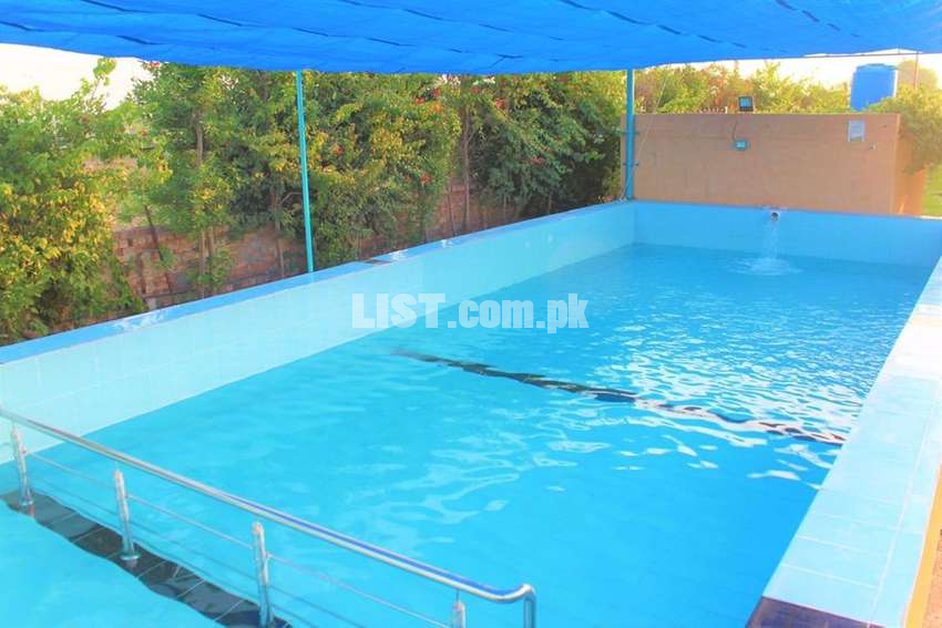 16 kanals farm house at Bedian Road for rent for pool parties/events