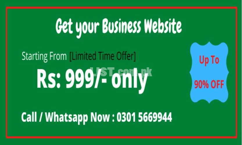 Get Business Website in Rs:999/- Only