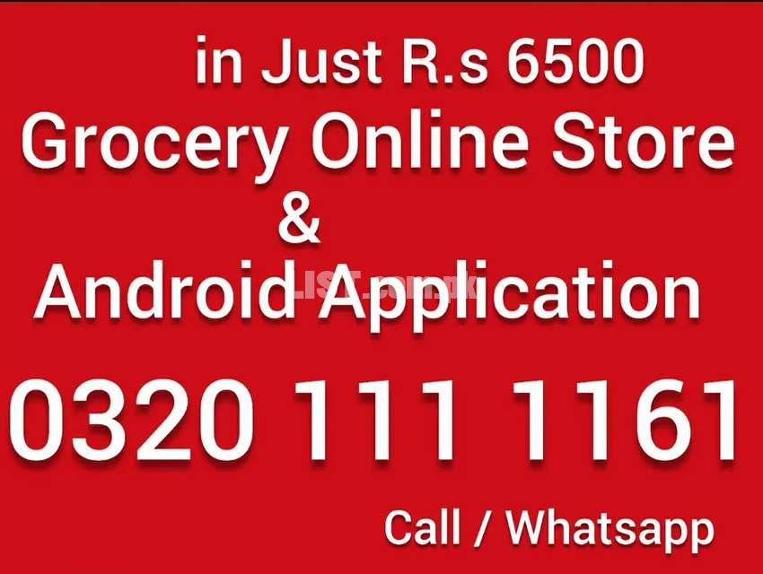 Grocery ecommerce website online store android application R.s 6500