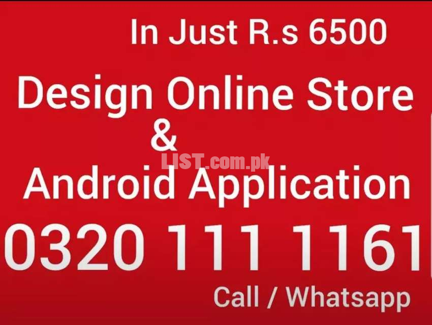 Ecommerce website online store customized Android Application R.s 6500