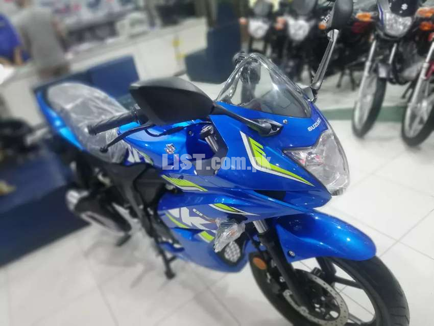 Gixxer150 on 0% mark up 36 monthly installments with just 20%advance