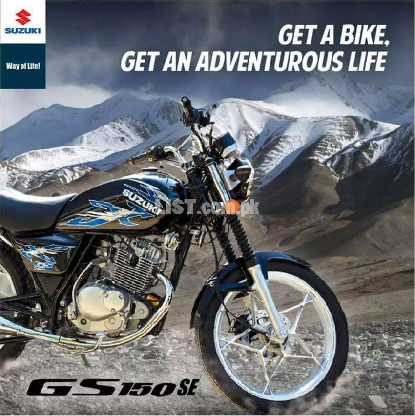 New package Suzuki GS150 SE on 0% mark up with 12 monthly installment