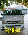 toyota hiace van for rent airport , murree booking , Marriages , shift