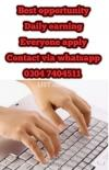 Typing job at home for students on daily basis. 43