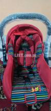 Baby cot red color