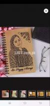 Wooden Dairy Engrave Your Picture & Name